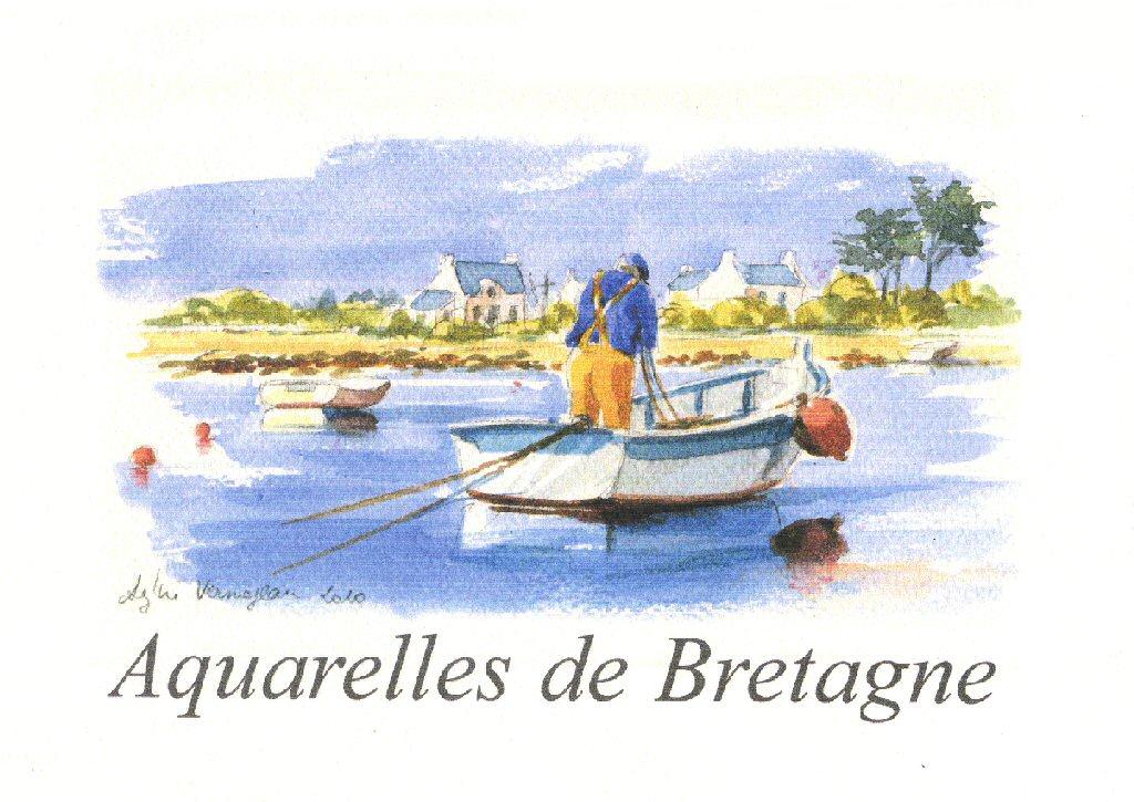 Aquarelle Bretagne editions anecdote - carnets d'aquarelles - nature - bretagne - finistère